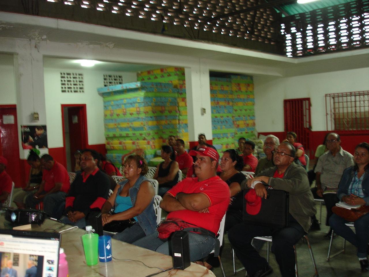 Proceso de Formación del PSUV (militancia) en el municipio Lamas.