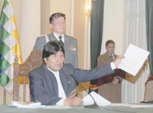 Presidente Constitucional del Estado Pluri Nacional de Bolivia